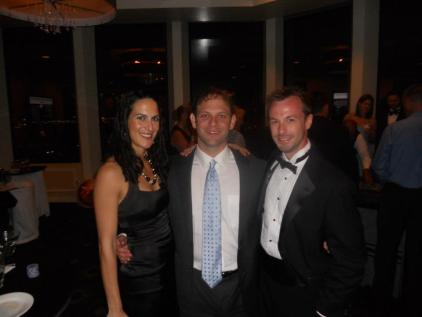 Meredith, Mike, and me, at the Diamonds Are Forever charity event